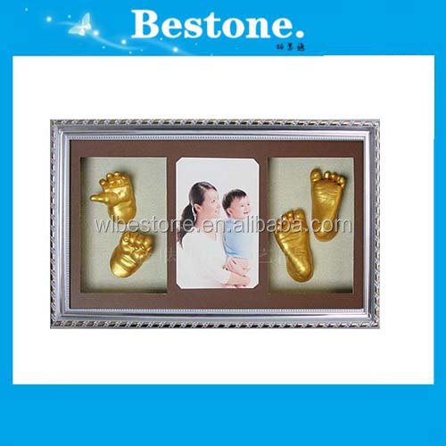 Hot Deluxe baby 3D cast frame kit baby gift
