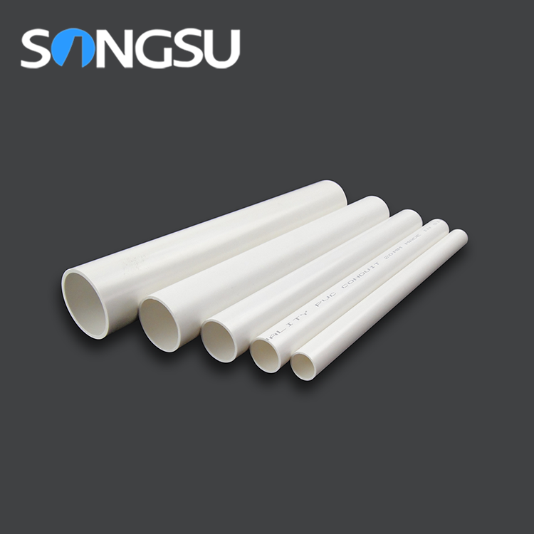 Hot sale good bending pvc pipe size and pvc fitting for electrical wiring