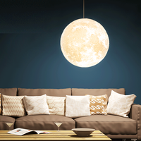 Moon Chandelier LED 3D Printing Moon Ceiling Lamp