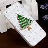 Christmas Tree Design 3D Crystal Bling Stones Phone Case for Iphone 4S/5S/5C/6/6s/6plus