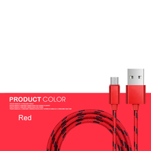 Nylon Braided Charging Sync Micro USB Data Cable For Samsung / Android Smart Device