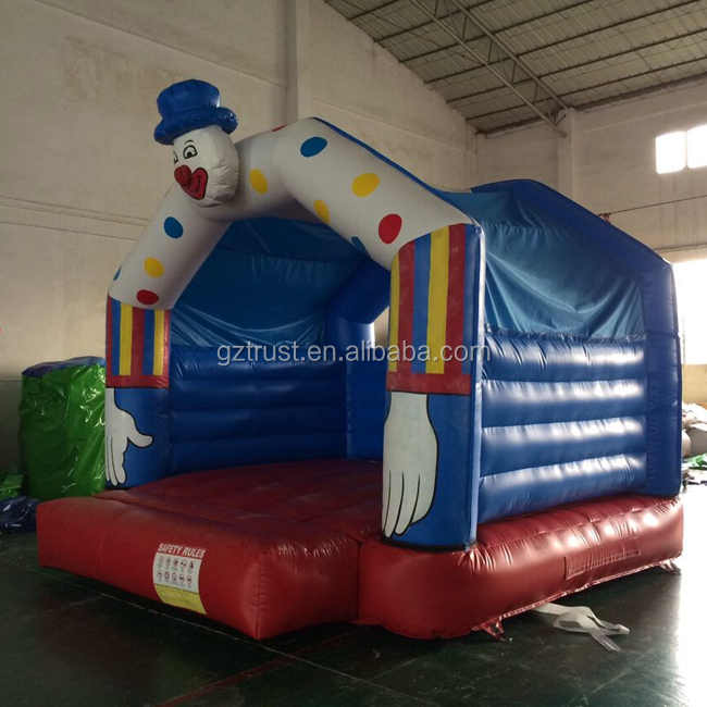 Colorful funny playing kids inflatable slide bouncer combo