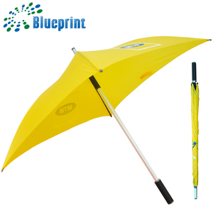 Fashion customized brand rain color 4 panels square rain umbrella