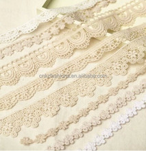 2015 Fashion Water-soluable Cord Lace Fabric Crochet Guipure Lace Trimming