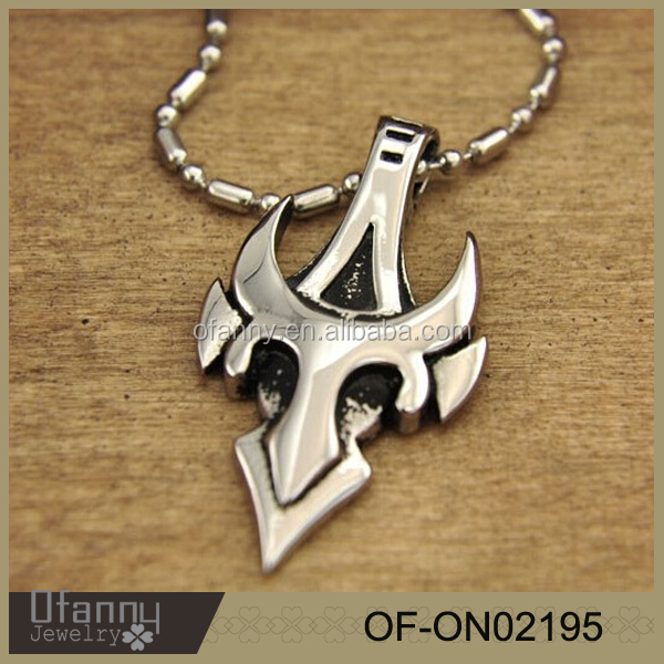 Stainless steel jewellery cool personality boss game monarch sword pendant necklace for men