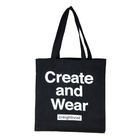 Wholesale Custom Printing Tote Black Cotton bag