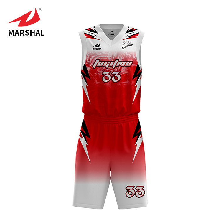 hot sale 100% polyester sleeveless digital printing basketball uniforms for youth