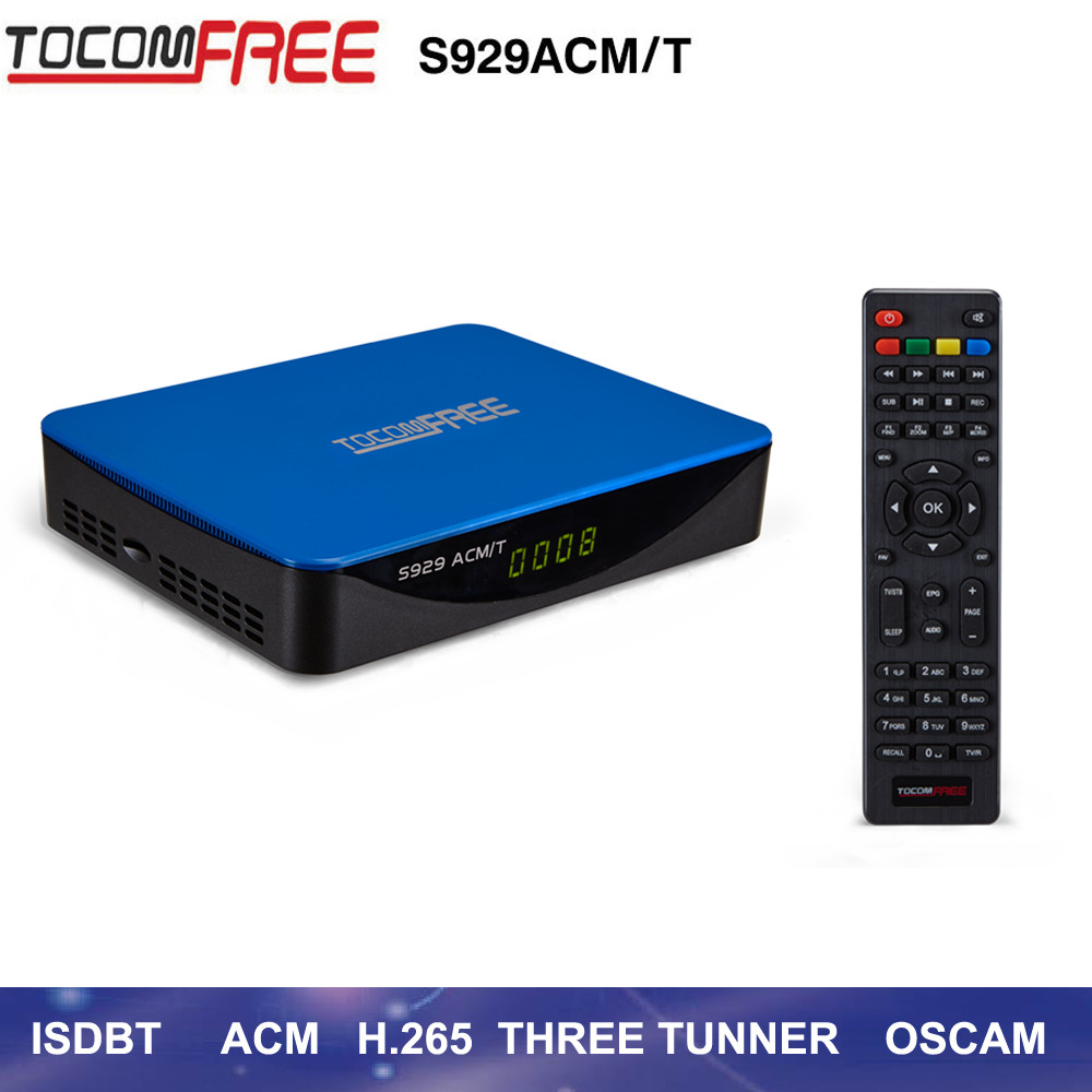 2017 Three <strong>tuners</strong> <strong>satellite</strong> <strong>TV</strong> decoder Tocomfree S929ACM/T support ISDB/T ACM IPTV for south America