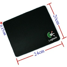 New 2016 New Pro Gamer 24*20cm Universal Rubber Material Mouse Pad Mat Black Gaming Mouse Pad for Laptop Computer Tablet PC