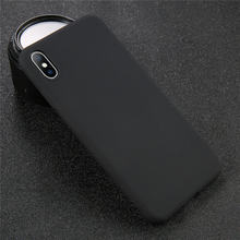 USLION силиконовый однотонный чехол для iPhone XS 11 Pro MAX XR X XS Max Candy чехлы для телефонов iPhone 11 7 6 6S 8 Plus Мягкий чехол(Китай)