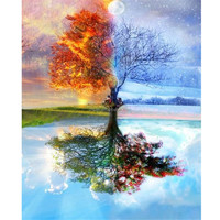 Landscape tree handmade embroidery kit home decor painting canvas diamond painting diy