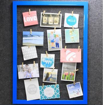wall mount hanging photo display rail with clips and polaroid wedding ideas to capture emmaline bride