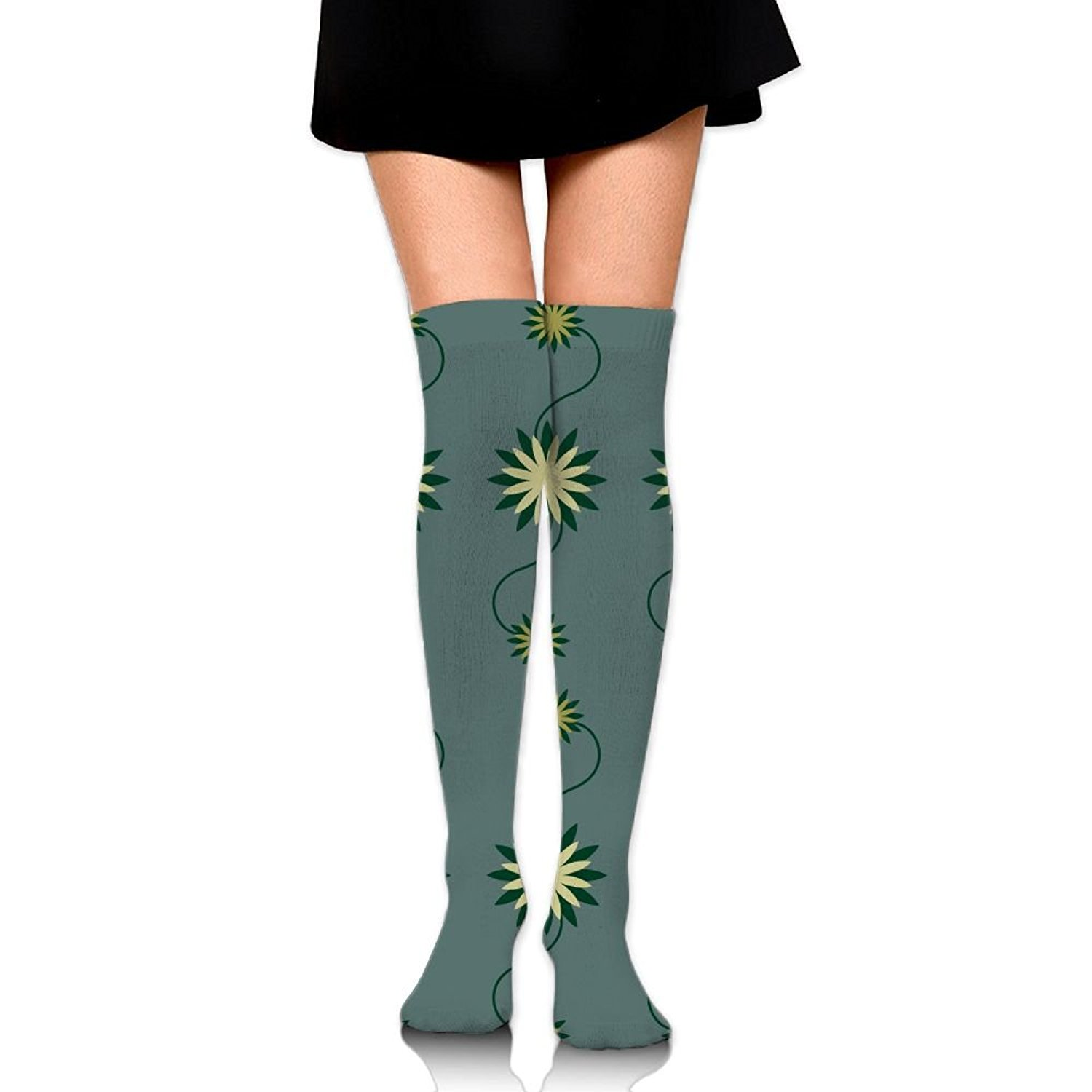 Zaqxsw Dandelion Women Graphic Thigh High Socks Cotton Socks For Womens