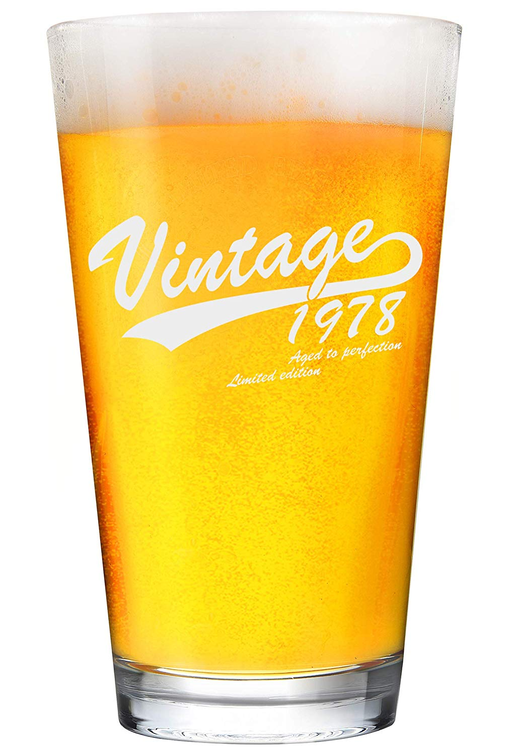 1978 40th Birthday 16oz Gifts for Women and Men Beer Glass - Funny Beer Glasses Gift for Him or Her. Cheers To Forty 40 Years - 40 Year Old Presents for Dad, Husband, Wife, Mom - IPA Mug Cup