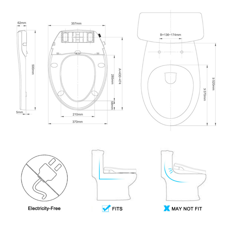 China manufacturer mechanical bidet non-electric bidet seat