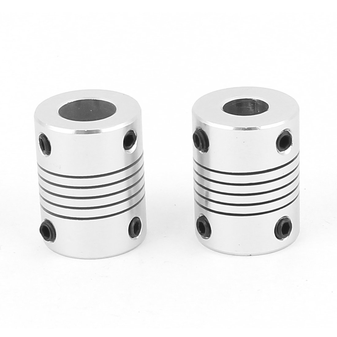 uxcell Motor Shaft 5mm to 5mm Joint Helical Beam Coupler Coupling 20mm Dia 25mm Length Silver