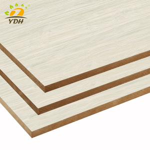 High quality Cheapest price 4*8 E1 melamine plain MDF board from China