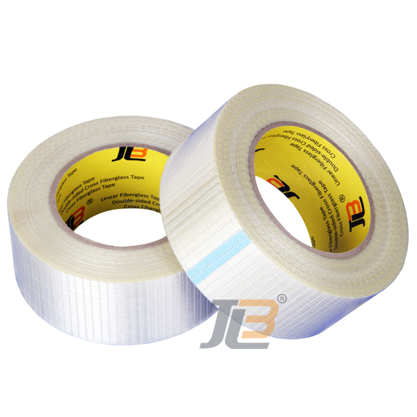 free samples JLW302C+ reinforced PET backing cross weave fiberglass adhesive tape for packaging