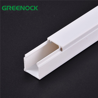 Waterproof Fire Resistant 10X10 16X16 16X25 Various Size White Plastic Electrical PVC Cable Trunking