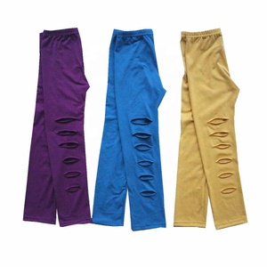 Retail autumn girls leggings pants in a solid color for children wholesale boutique kids clothing