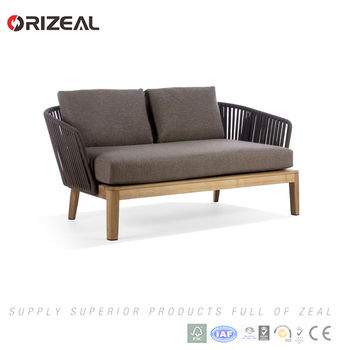 New Style Cheap Teak Wood Garden Furniture L Shaped Outdoor Modern Rattan  Sofa For Sale