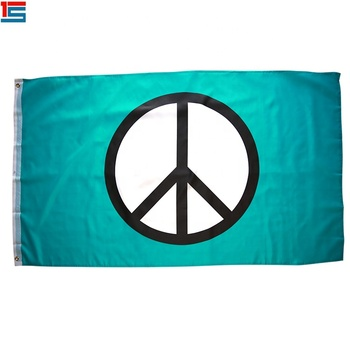 Promotional polyester material low price Peace UN Earth flag
