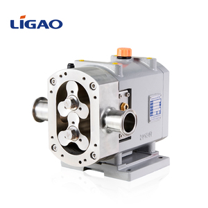 LIGAO Stainless steel sanitary rotor pumps rotary vane lobe pump