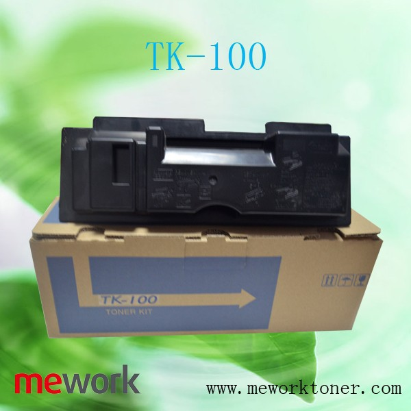 Mework empty toner bottles TK100 for Kyocera KM1500/KM1815/KM1820 toner powder