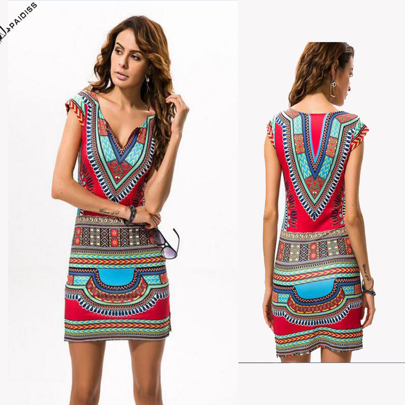 2016 Modern Style Bodycon Print Women African Kitenge Dress Designs