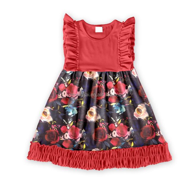 Chica bebés para bebés de diseño de verano de Niños Niños Ropa algodón último dulce 2018 niños El rojo zfqwZW8