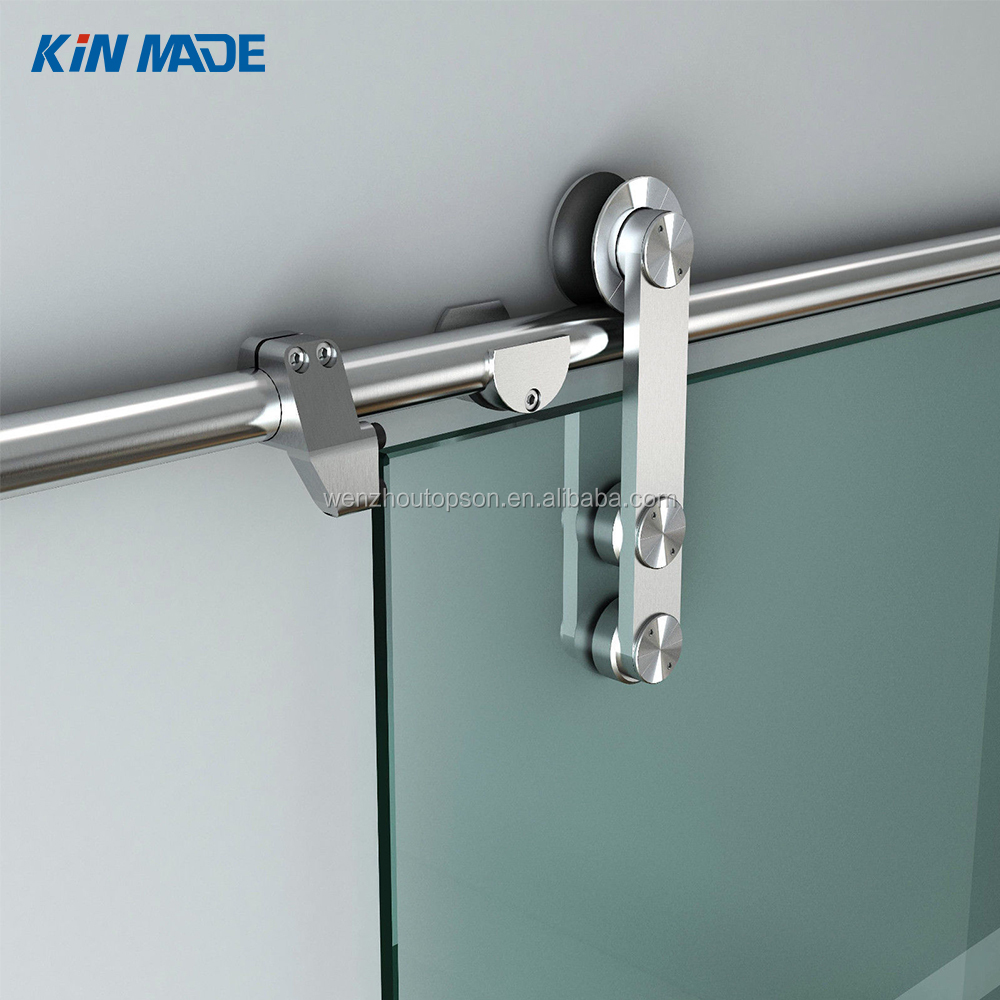 6/6.6ft sliding barn glass door hardware glass door hanging sliding track kit