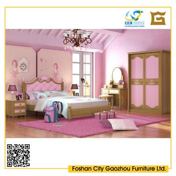 Roze kleur prinses stijl meisjes kids bed voor kinderen slaapkamer meubels buy product on - Slaapkamer kleur meisje ...
