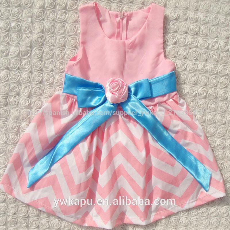 hermoso baratos de bebé vestido de chevron vestido para niña ...