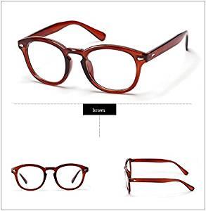 d9029869dd Get Quotations · 365Cor(TM)Retro Designer Eyeglasses Frames With Clear Lens  johnny depp glasses Optical Degree
