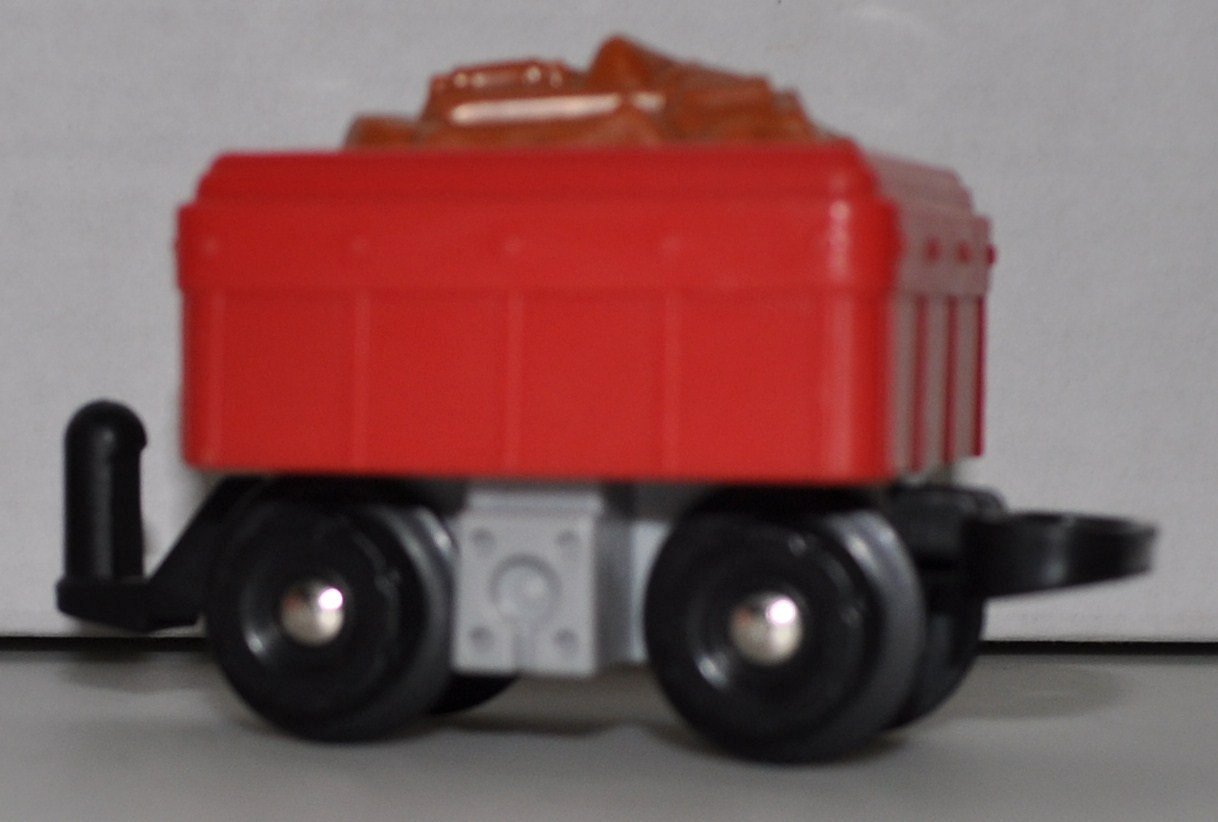 GeoTrax Red Coal Load Car - Replacement Piece - Classic Fisher Price Geo Trax Collectible - Loose Out Of Package (OOP) Engine Cars Track Transportation Tracks
