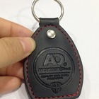 Fashion Custom PU Keychain Debossed Logo Leather Keyring With Your Own Design
