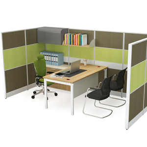 Office workstation with private and soundproof divider/screen
