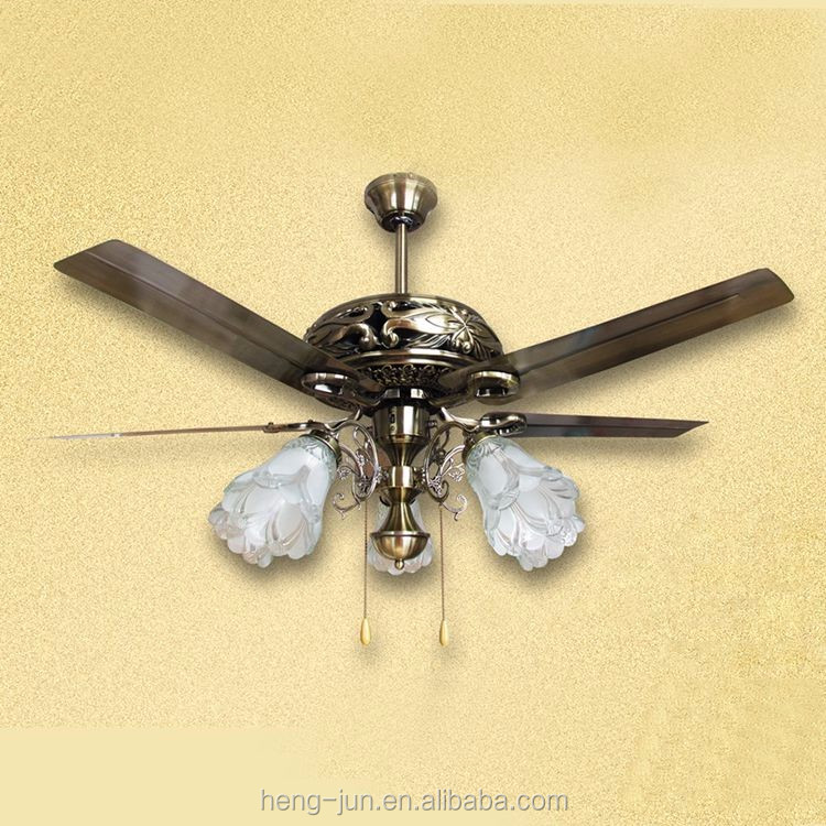 New Indoor Classic Antique Decorative Ceiling Fan with Light Kit