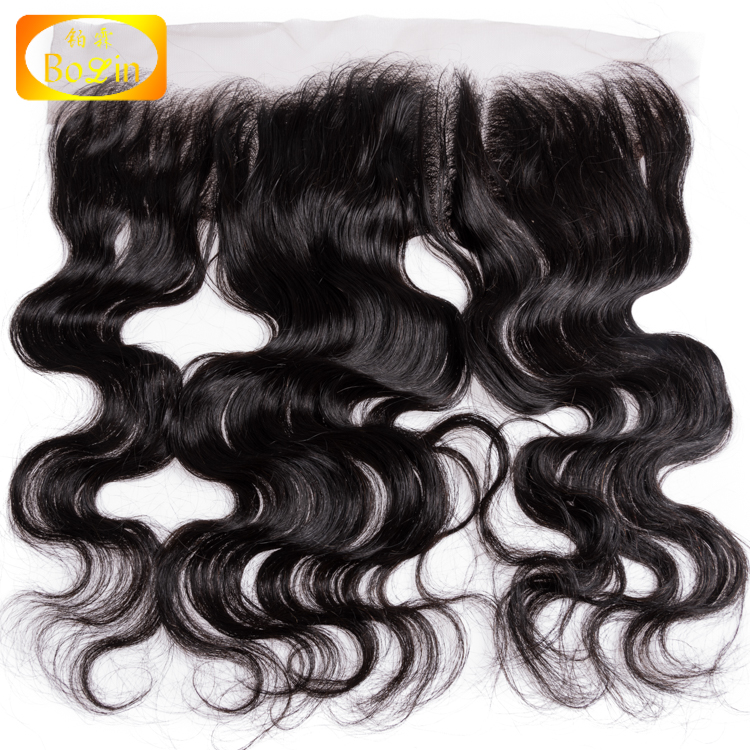 Natural color 100% virgin hair body wave lace frontal 13x4 human hair extension фото