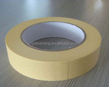 60 degree 24mm strong adhesion yellowish indoor painting masking tape