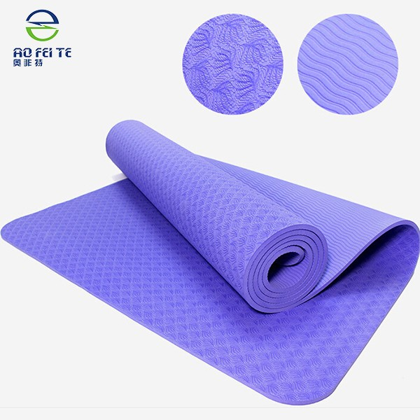 China suppliers wholesale cheap TPE Yoga Mat,Non toxic patented eco-friendly yoga mat