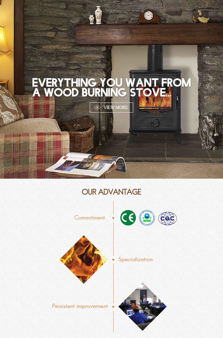 Most selling cheap freestanding steel wood stove for room heating