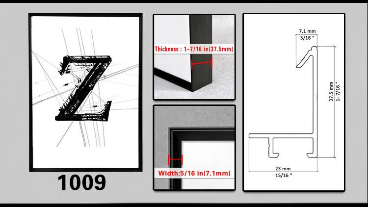 Top Class 8x10 clip metal estándar tamaños de marco de fotos-Marco ...