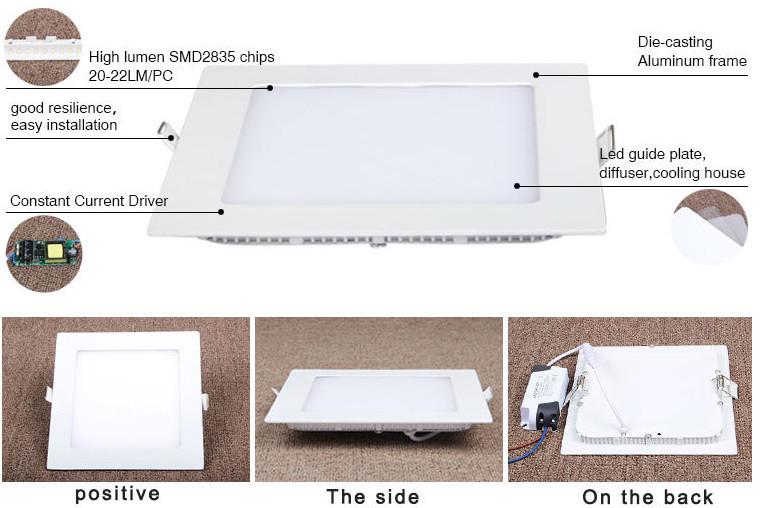 Ultra Slim Led Kitchen Ceiling Lights Recessed Panel Light 18w ...