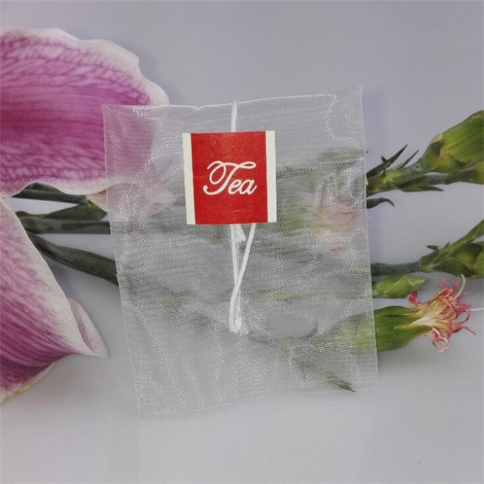 Customized Drawstring Food Packaging Nylon Empty Tea Bag 5*6cm