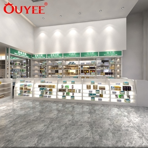 Drugstore Retail Medical Store Counter Design Furniture Pharmacy Furniture