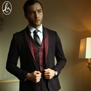 European Style Custom Made Coat Pant 3 Piece Suit for Men