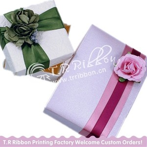wholesale various kinds of printed ribbon for gift wrap ribbon for package
