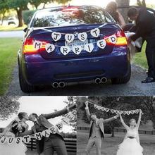 JUST MARRIED Svadobná dekorácia