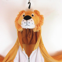 Customized lovely soft brown plush animal lion mascot costume